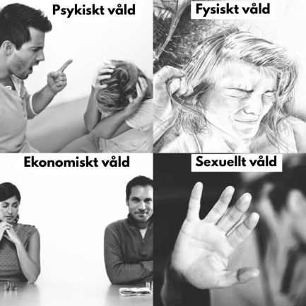 olika former av våld
